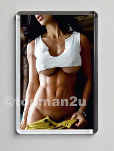 New Quality Fridge Magnet, Toned Fitness Model, Sexy Inspiration, Vest Underboob