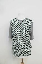 BNWT ANTIPODIUM LONDON Ladies Grey Short Sleeved Striped T-Shirt Size Approx. S