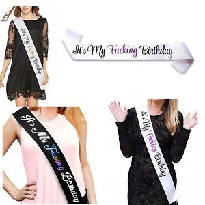 It's My F***ING Birthday Satin Sash - Funny Birthday Party Decorations - 21st