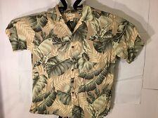 Panama Jack Man Size 2XL 100% Rayon Hawaiian Shirt Tropical Pattern