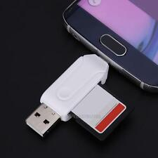 Multi-Function USB 2.0 Adapter SD TF Memory Card Reader Writer Flash Drive 2in1