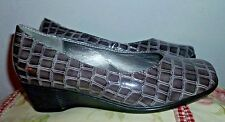 Cinderella of Boston  - women loafers style shoes size 4.5 textured wedge heel