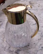 kalte ente karaffe krug aus kristallglas mit versilberter montierung  50er