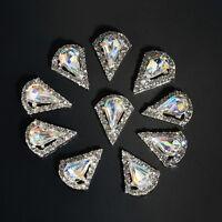 10pcs 3d Nail Art Decoration Metal Alloy Gem Designs Charm Germ Rhinestones Tips