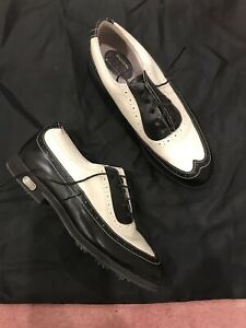 Footjoy Europa Collection Golf Shoes 8 M Womens Brogue Leather Spat Wingtip