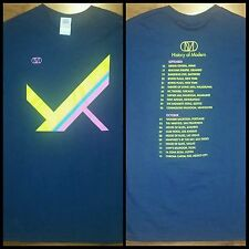 OMD History Of Modern 2011 Tour Concert Shirt Rare Orchestral Manoeuvres In Dark