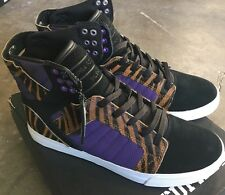 Supra Skytop Black Purple Tiger White Size 5.5 New With Box