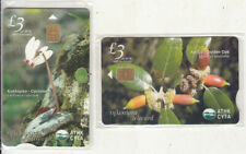 CYPRUS set of 2 collectors phonecards Flowers 850ex 06/06 mint