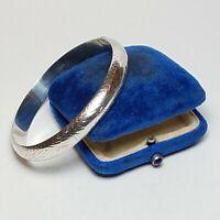 Vintage Sterling Silver Etched Bracelet Southwestern 925 Hinged Bangle