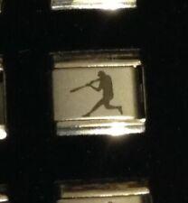 Baseball Softball Hitter Player - Sport - Italian Charm Link 9mm - Personal Link