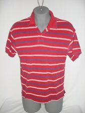 St. John's Bay Men's Polo Shirt XL Red White Blue Stripes