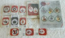 Large lot of animal christmas counted cross stitch kits Mostly New Ship Fast