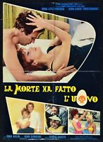 Manifesto the Morte Ha Made EGG & Gina Lollobrigida Trintignant Horror S13