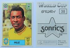 Panini World Cup 1970 Sticker #38 Pelé Brazil - World Cup Story 1990 RARE