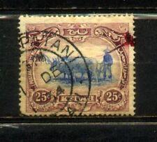1921 Malaysia Malaya Kedah 25c Watermark Multi Script CA. Used. CV Rm 30
