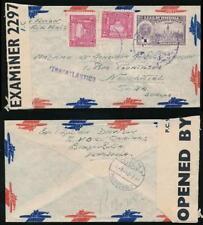 VENEZUELA WW2 MULTI FRANKING TRANSATLANTICO 1942 BERMUDA CENSOR INTERCEPTED 2297