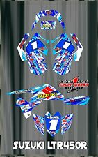 SUZUKI LTR 450 LTR450  SEMI CUSTOM GRAPHICS KIT STARS