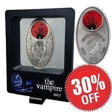 RARE Vampire Coin Fiji 2012 99.9% Silver Limited 1000 Air Case COA Glass Window