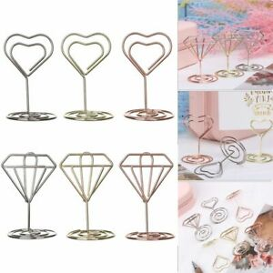 Paper Clamp Clamps Stand Place Card Table Numbers Holder Photos Clips
