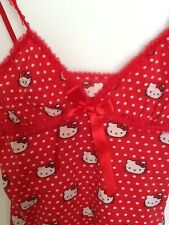 Hello Kitty XS canottiera spalle sottili rossa red top underwear