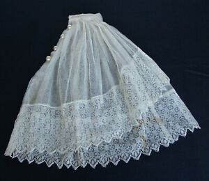 Antique Tulle Net Lace Jabot Dress Collar