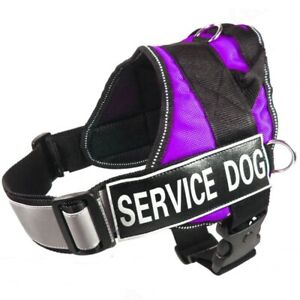 SERVICE DOG VEST Harness Handle Removable Reflective Tag Patches THERAPY DOG