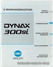 """MINOLTA Bedienungsanleitung """" DYNAX 300si """" User Manual Kamera Anleitung (X2353"""