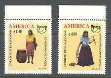 TRADITIONAL COSTUMES, AMERICA -  UPAEP ON EL SALVADOR 1996 Scott 1450-1451, MNH