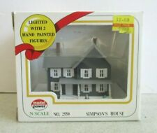 N SCALE SIMPSONS HOUSE FOR TRAIN SET MIB OPEN MODEL POWER EXCELLENT CONDITION