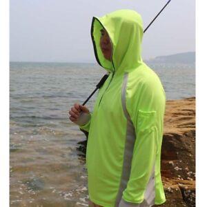 Men Fishing Shirt Anti UV Clothes Sun Protection Hoody Pullover Breathable Shirt