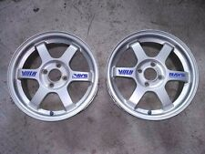 JDM 4x100 RARE SILVER TE37 VOLK RACING RAYS WHEELS EK9 EG6 SIR Civic Integra CRX