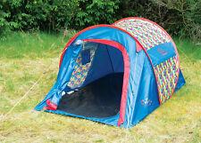 Colour Burst Pop Up Tent - Quick Pitch Pop up Tent Festivals Camping Trekking