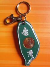 Leather Key Chain with Coin from Taiwan