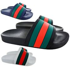 MENS SUMMER FLIP FLOPS SLIDERS DESIGNER BEACH MULES POOL SLIP ON SANDALS SHOES