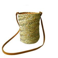 Women's Fashion Designer Style Straw Bucket Bag Ladies Shoulder Bag