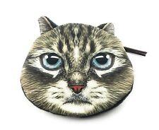 Lagiwa® Porte-monnaie Tête Animal CHAT C en tissu avec fermeture éclair + 1 KDO
