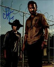 Chandler Riggs Andrew Lincoln autographed 8x10 signed Photo + COA