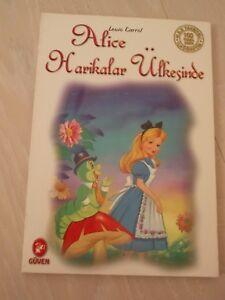 ALICE IN WONDERLAND - LEWIS CARROLL TURKISH BOOK TURKEY ILLUSTRATED 2