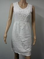NEW with Tags - Studio M - Sleeveless Textured Gauze Dress - Size XS White $128