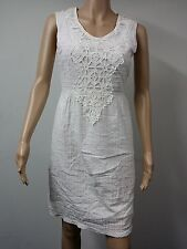 NEW with Tags - Studio M - Sleeveless Textured Gauze Dress - Size XS White $128