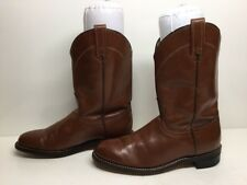 VTG WOMENS ACME WESTERN ROPER LEATHER BROWN BOOTS SIZE 6.5 M