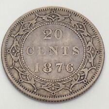 1876 Canada Newfoundland 20 Twenty Cents Canadian Circulated Coin F621