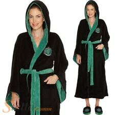 Ladies Slytherin Bathrobe Harry Potter Fleece Dressing Gown