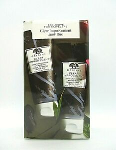 Origins Exclusive For Travelers Clear Improvement Mask Duo ~ 3.4 oz Each ~ BNIB