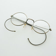 Round Lennon Small Spectacle Vintage Glasses Cable Temples Bronze - LG Rudy