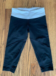Lululemon Running Athletic Leggings Cropped Pants Women's Size 4 Black