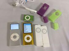 iPod Lot of 5 Mixed 4th Gen Yellow 2nd Silver Shuffle Green 1st Gen A1112 Read