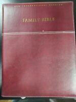 "NIV Family Bible Zondervan Hardcover Leather bound 11"" x 8.5"" x 2"""