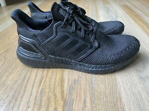 Size 10 - Men's adidas UltraBoost 20 Triple Black 2019
