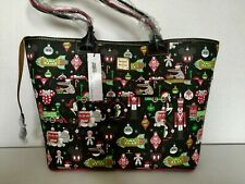 NWT Genuine Disney Parks Exclusive Holiday Large Zip Tote by Dooney & Bourke